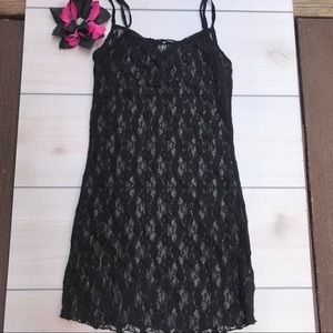FINAL 💰 LA Made Black Lace Cami Top / Dress Sz S